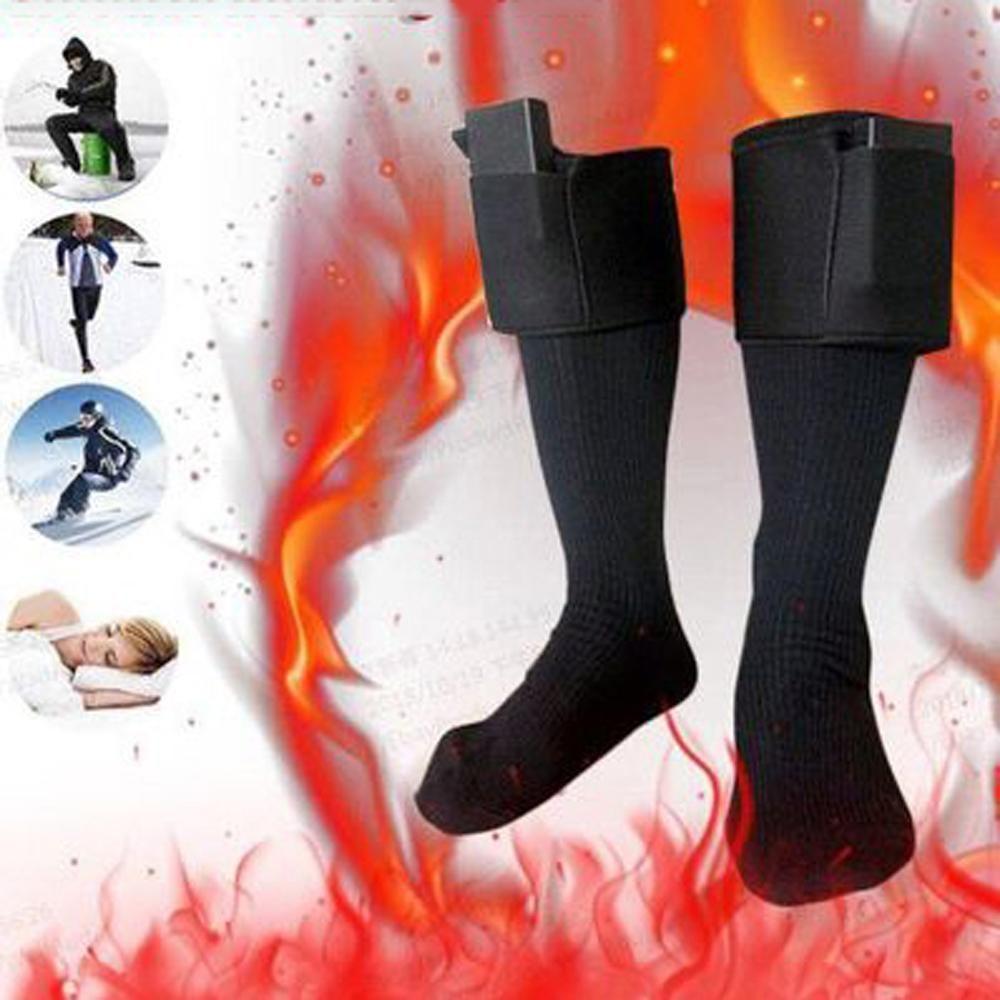 Rechargeable Battery Heated Socks Feet Thermal Winter Warmer Heater Foot Shoe