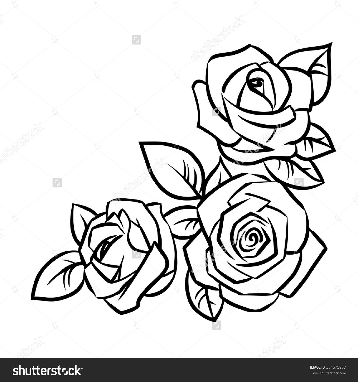 Drawing Lines With Svg : Simple rose outline drawing google search tattoos