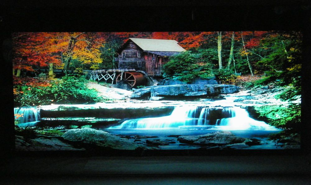 Grist Mill Motion Light Lighted Moving Waterfall Mirror W