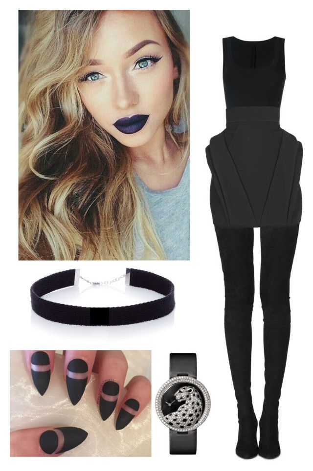 """Untitled #342"" by rubyheartsd on Polyvore featuring Tamara Mellon, Alaïa, Balmain, Cartier and AS29"