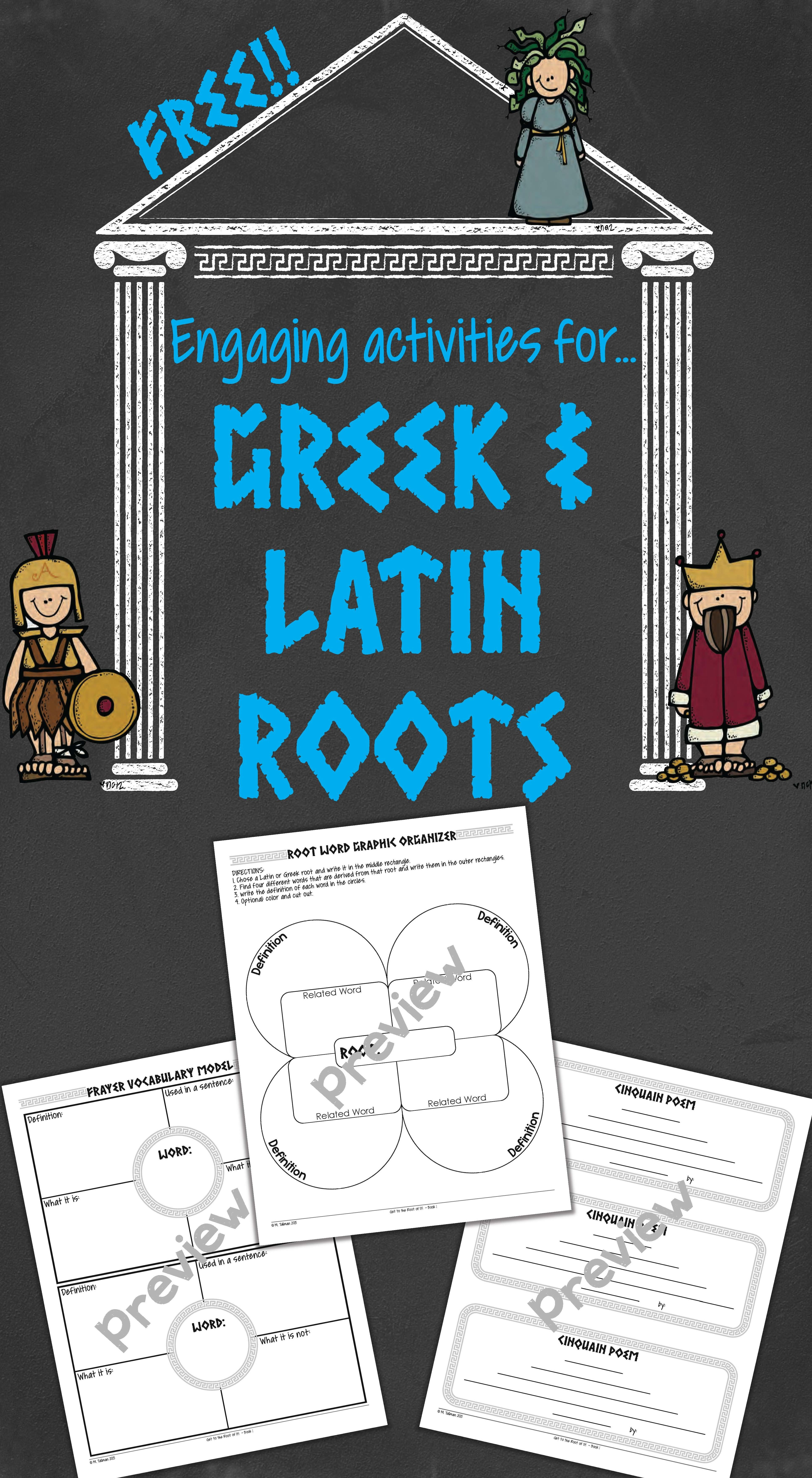 FREE activities that are perfect for Greek and Latin root word study ...