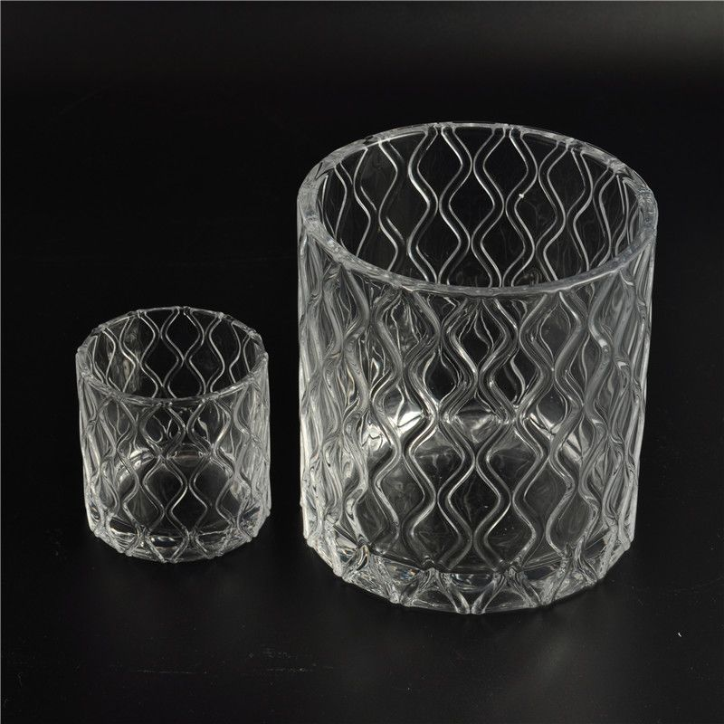 Wholesale hot selling 2016 popular glass candle jar with lid