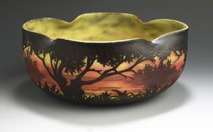 A Daum Nancy bowl circa 1905