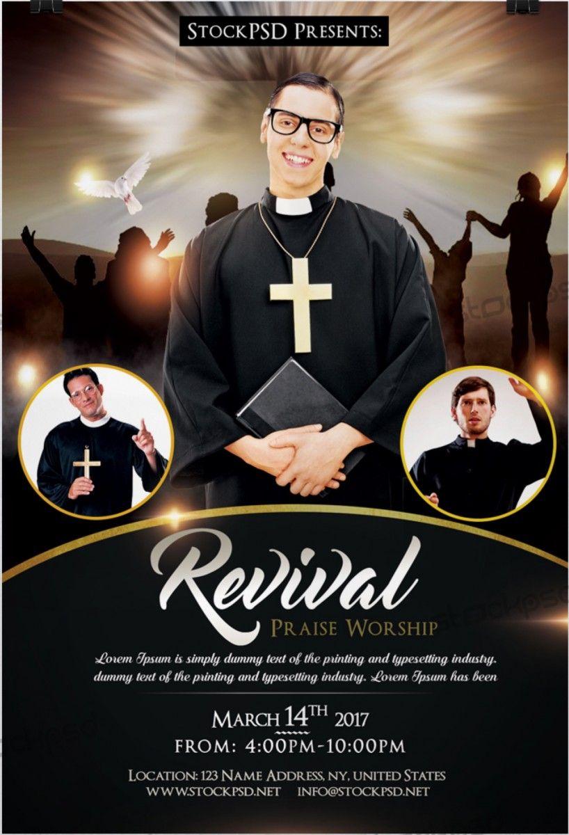 Revival Church Pastor Freebie Psd Flyer Template Free Psd Flyer Download Free Psd Mockup Fl Psd Flyer Templates Free Psd Flyer Templates Free Psd Flyer