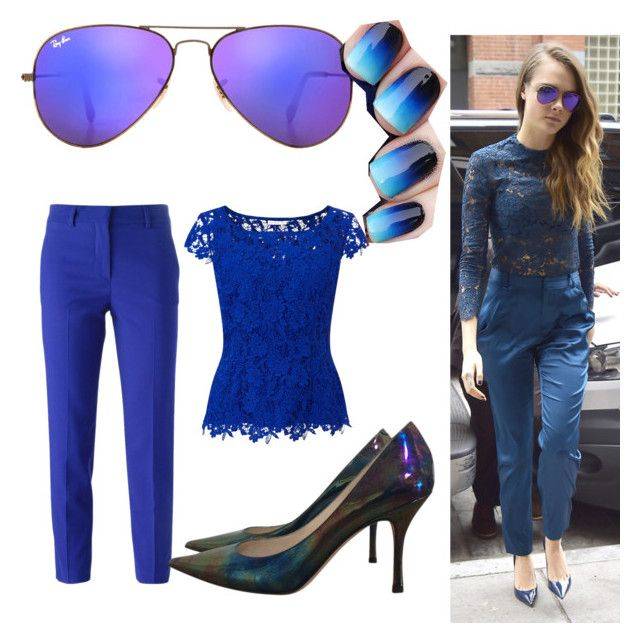 """""""Cara 💓💓💓"""" by jsable456 on Polyvore featuring Jacques Vert, MSGM, Jimmy Choo and Ray-Ban"""