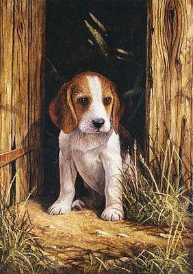 Beagle Puppy Paint By Numbers Beagle Art Cross Stitch