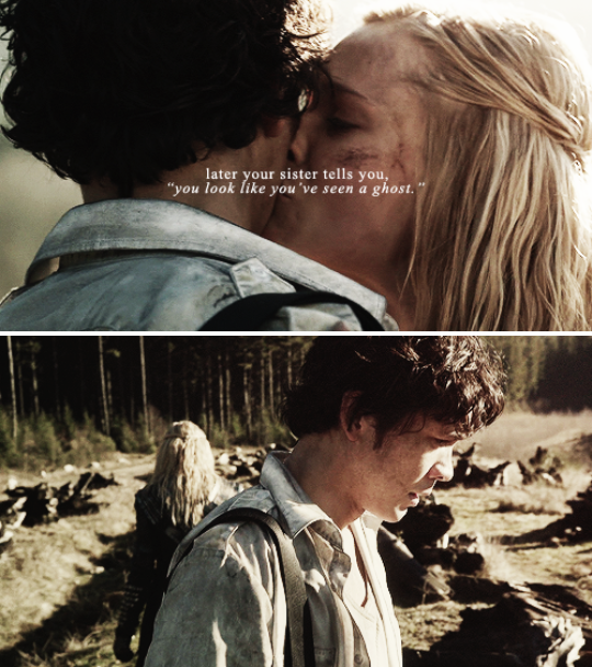 """you don't know how to say, """"she haunts me, she haunts me, she haunts me."""" #the100"""