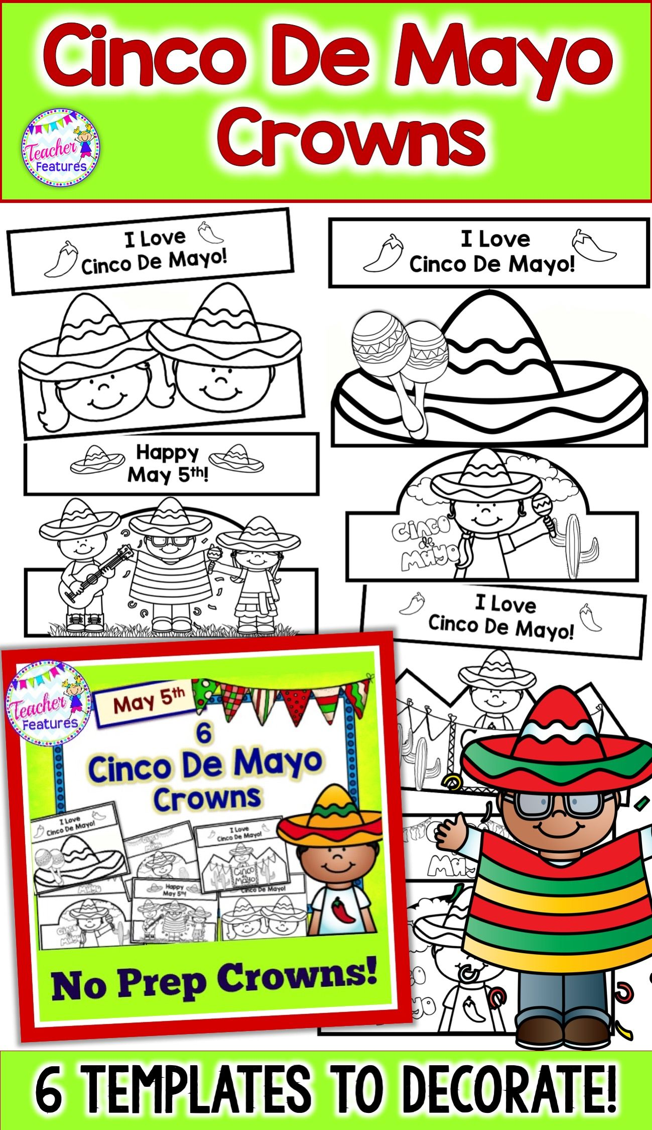 This Cinco De Mayo Craftivity Download Is Filled With A
