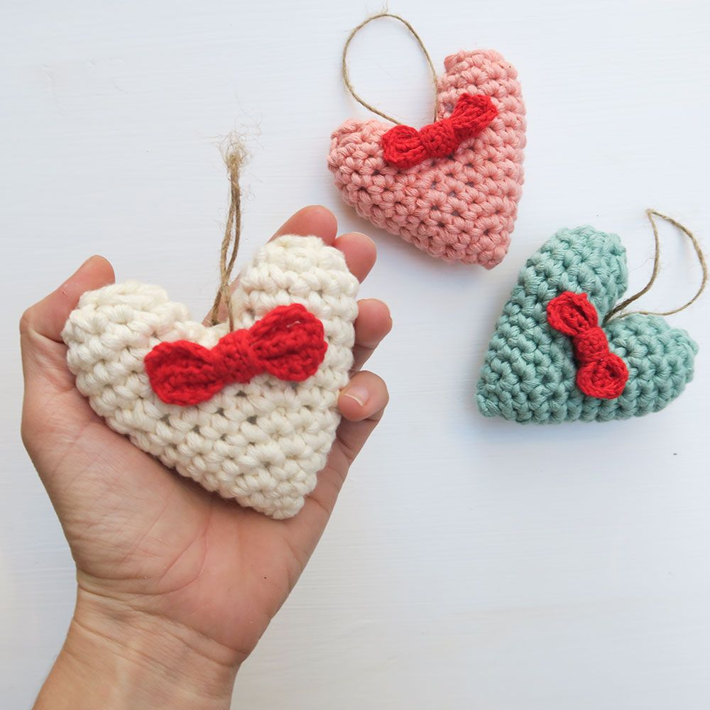 Corazón 3D de ganchillo - vídeo tutorial | Corazones de ganchillo ...