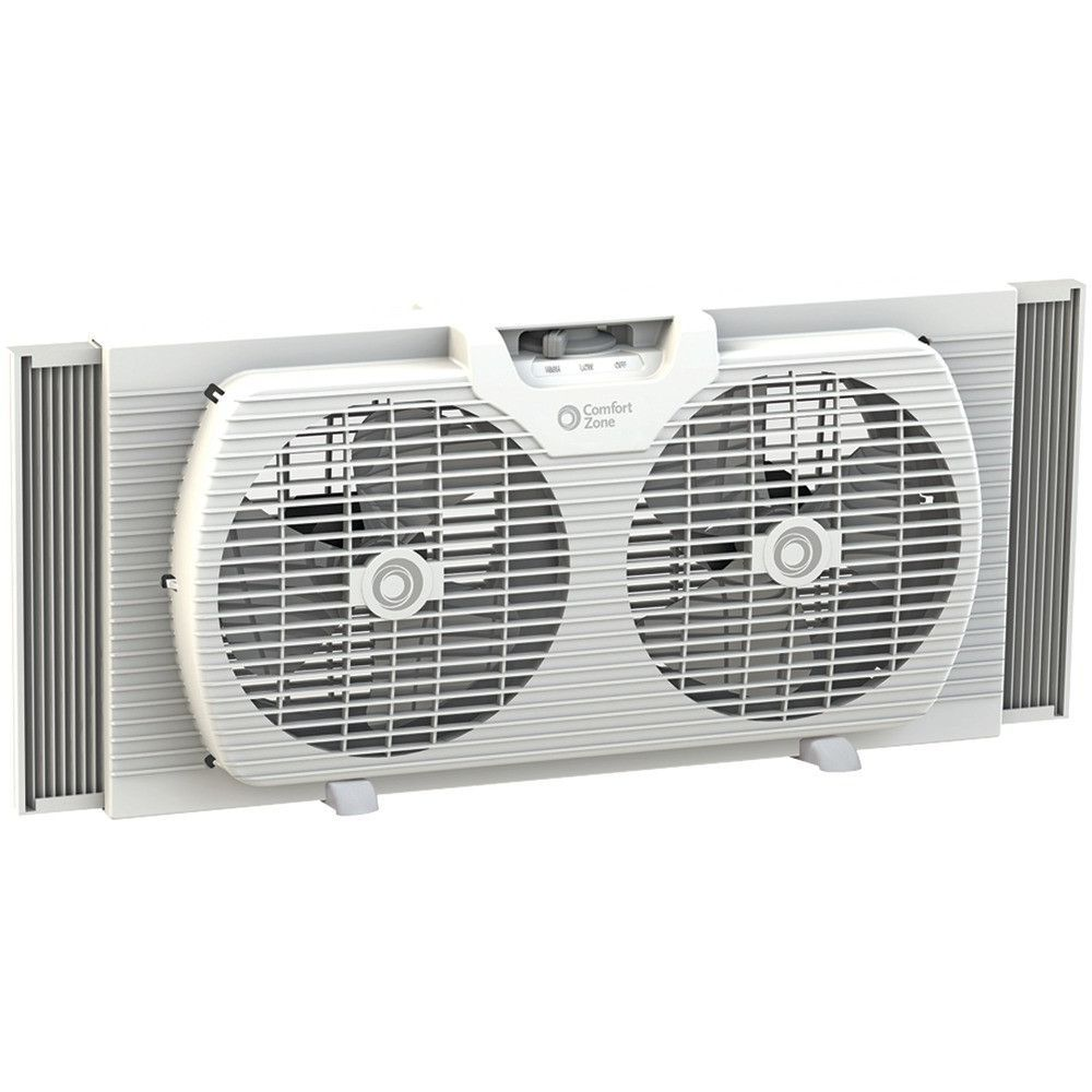 """Comfort Zone 9"""" Twin Portable Window Fan (With images ..."""