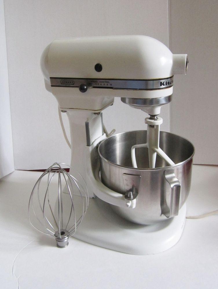 kitchenaid k5 a white hobart stand mixer with 2 attachments rh pinterest com