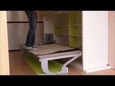 como hacer una cama para habitacion juvenil - YouTube