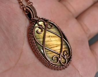 Photo of Tree of life necklace, Copper wire wrapped jewelry, Protection pendant, Antiqued Celtic tree, Wire wrapped tree