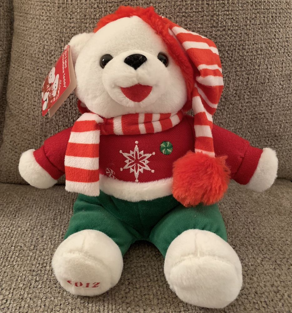 2012 Walmart Christmas Plush Snowflake Teddy Bear Boy 13