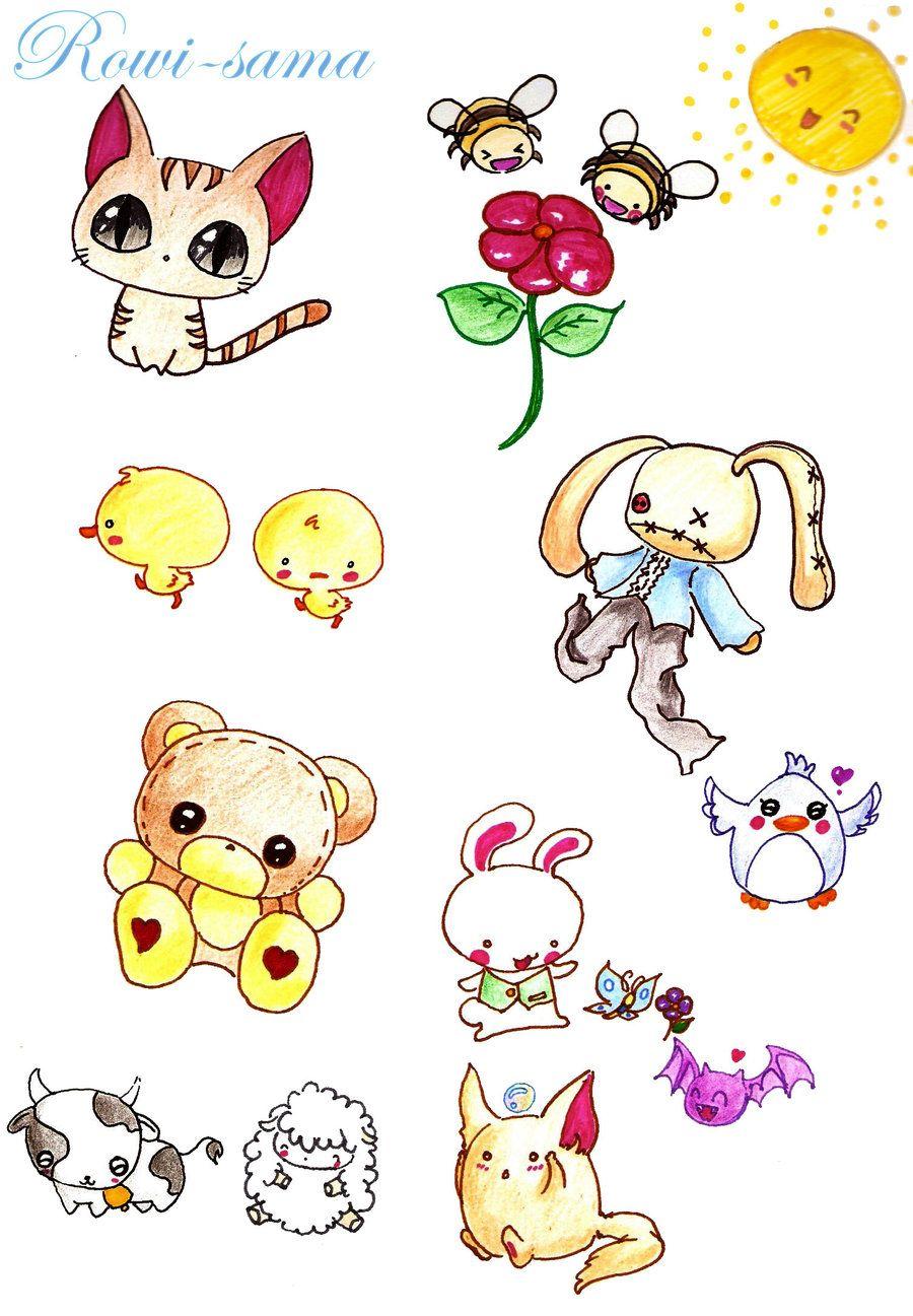 cute anime animals Cute Animals by Rowisama on