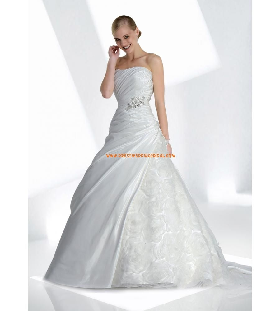 Hot selling modest strapless princess beaded white taffeta floral hot selling modest strapless princess beaded white taffeta floral organza wedding dresses 2013 ombrellifo Images
