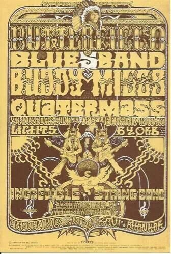 Paul Butterfield Blues Band, Buddy Miles and Quartermass.