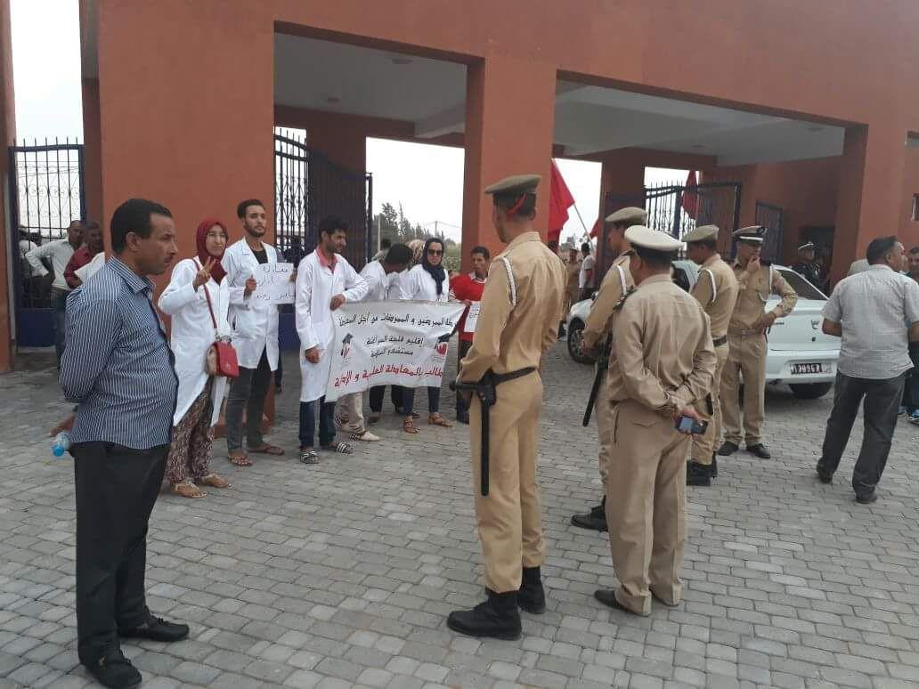 حركة الممرضات والممرضين من اجل المعادلة تستقبل الوردي