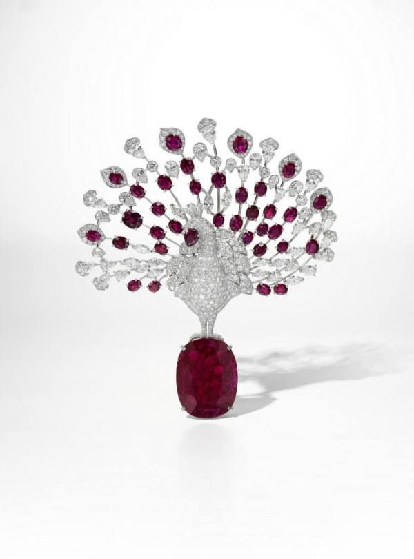 The Cartier Red Peacock Brooch, Property From A Royal Private Collection