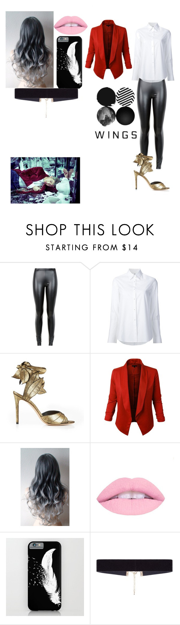 """""""Rap monster wings"""" by btsgirl1234 ❤ liked on Polyvore featuring JDY, Misha Nonoo, Vivienne Westwood and 8 Other Reasons"""