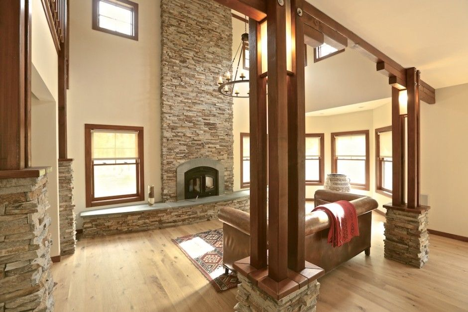 Rustic wood columns google search chlt pipe for Indoor column ideas