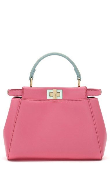 162a5d18ad Fendi  Mini Peekaboo  Colorblock Leather Bag available at  Nordstrom Soft  lambskin leather in the freshest colors of the season styles this covetable  Mini ...