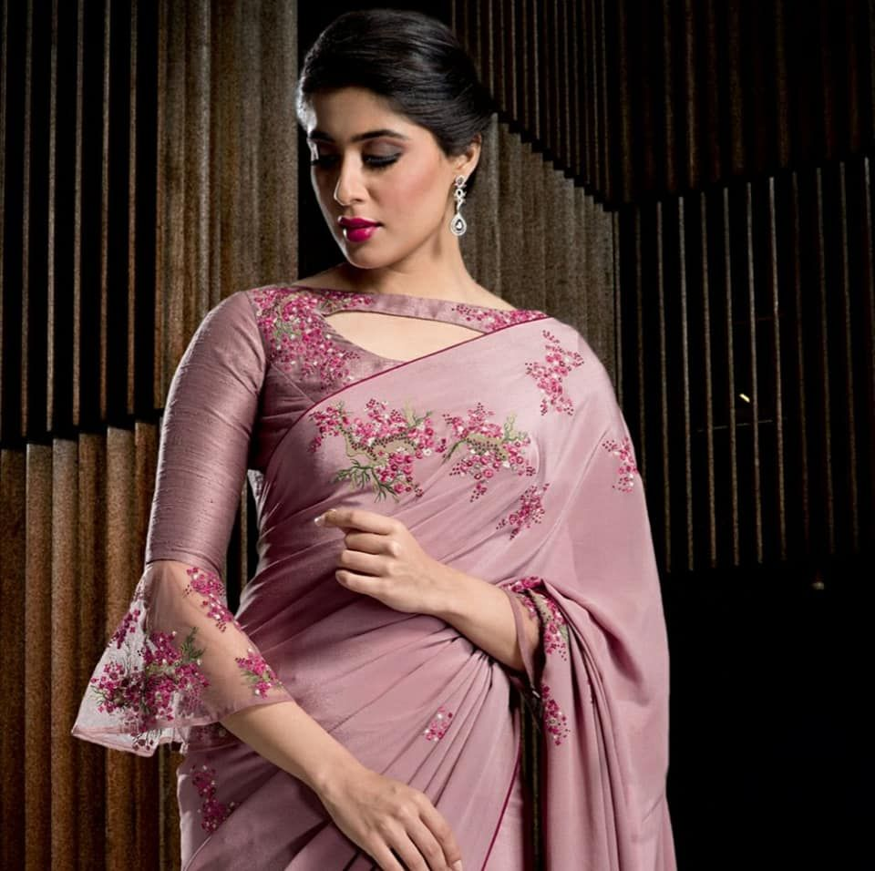310a940755f84 Sexy blouse saree sari also chic full neck designs how to style it blouses  rh pinterest