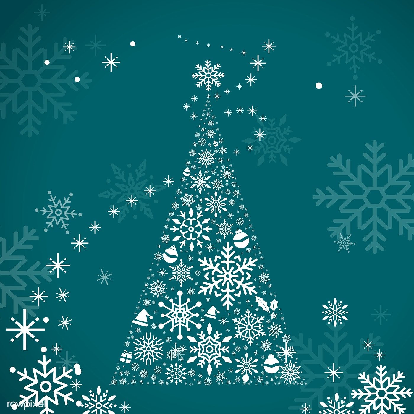 Green Christmas Winter Holiday Background With Snowflake And Christmas Tree Vector Free Image By Holiday Background Christmas Tree Background Blue Christmas