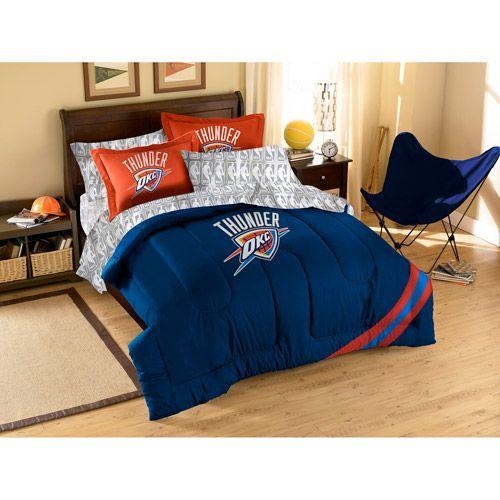Bedroom Sets Okc nba thunder bedding | nba applique 3-piece bedding comforter set