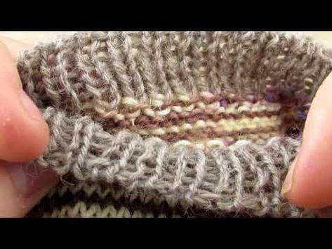 Rabat élastique - méthode d'Elizabeth Zimmerman - YouTube | Tricot et crochet, Tricot, Finir un ...