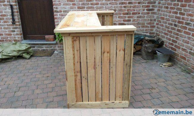 Bar en bois de palette artisanale - A vendre | 2ememain.be | Ojh ...