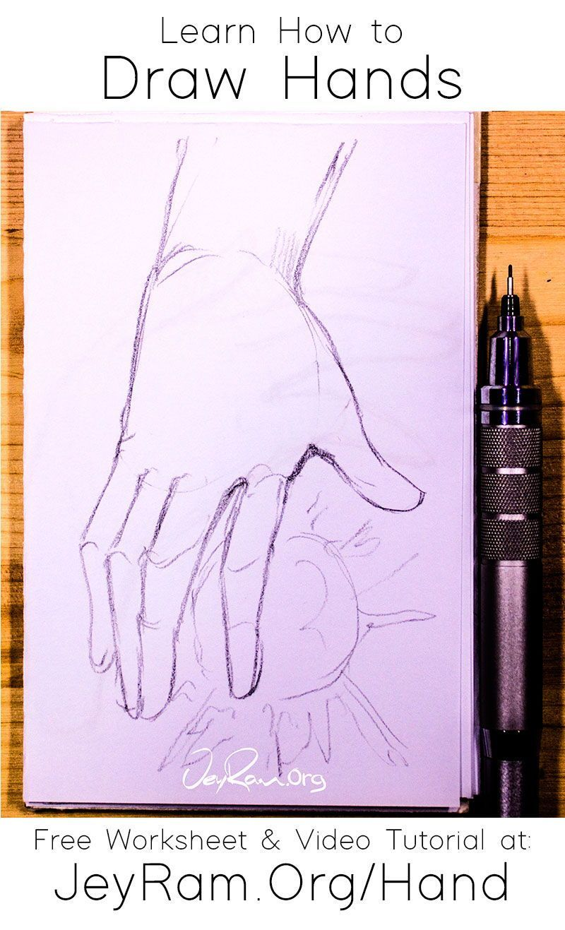 Learn How To Draw Hands For Beginners In 2020 How To Draw Hands Learn To Draw Free Hand Drawing