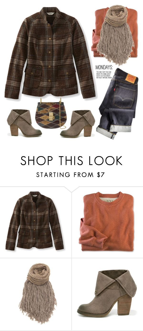 """#mondays"" by musicfriend1 ❤ liked on Polyvore featuring L.L.Bean, Sbicca, Chloé, women's clothing, women's fashion, women, female, woman, misses and juniors"