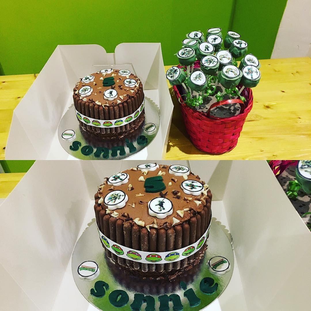 TNT Birthday Cake Surprise Inside And Pops Delivered To A Special Boy Teenagemutantninjaturtles
