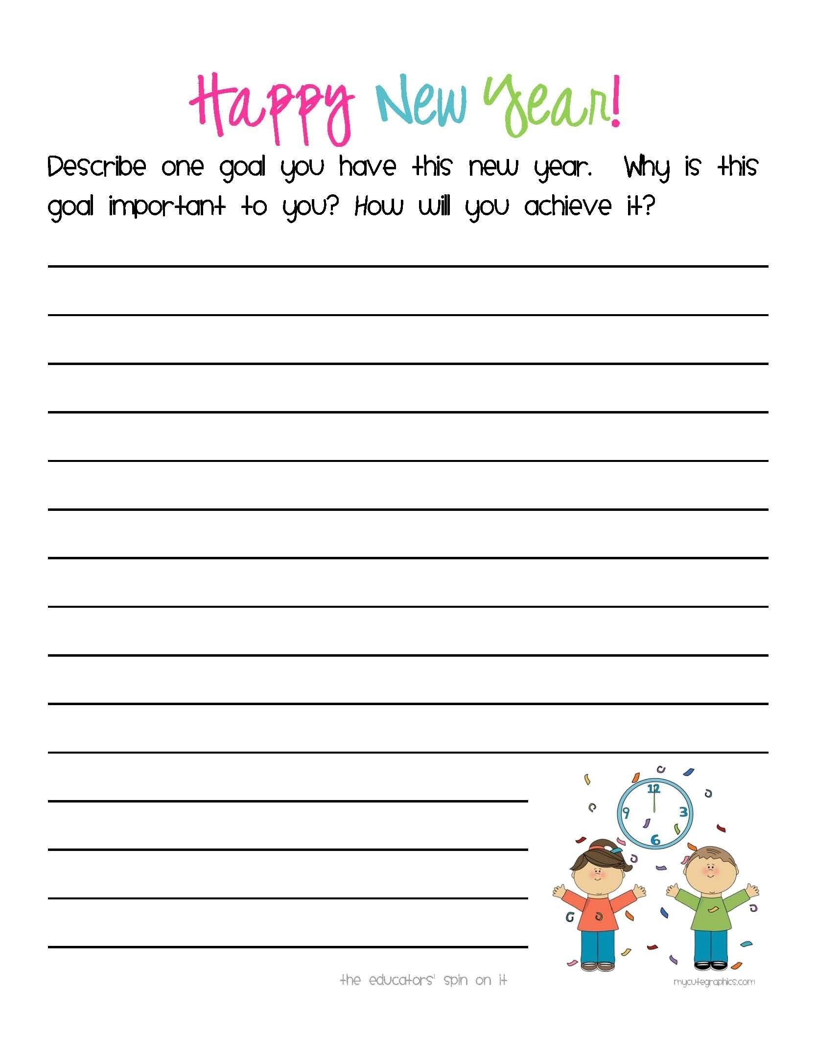 4 Worksheet Seasons Writing Prompt New Year S Activities