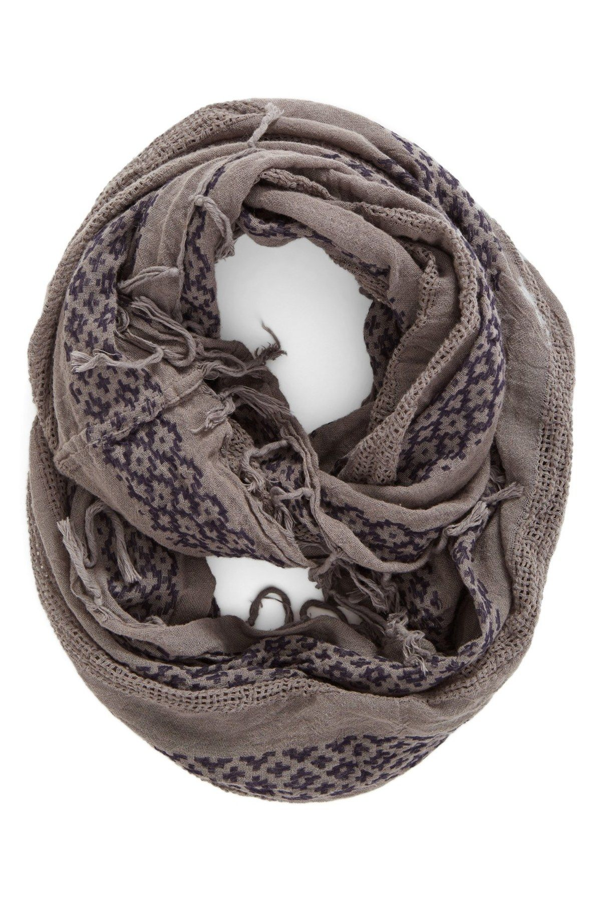 Geo Embroidery Infinity Scarf