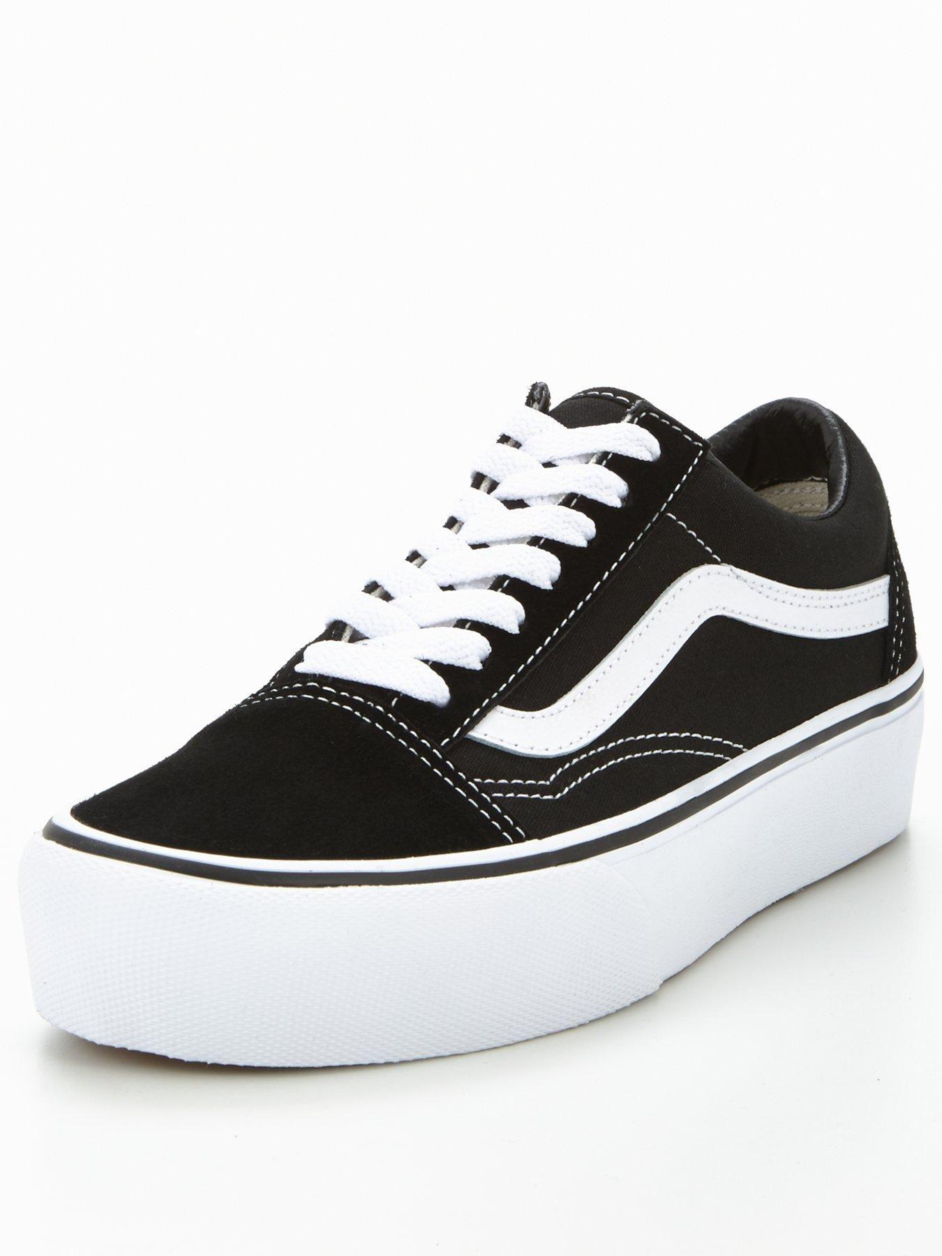 Vans Old Skool Platform - Black/White in 2020 | Black, white ...