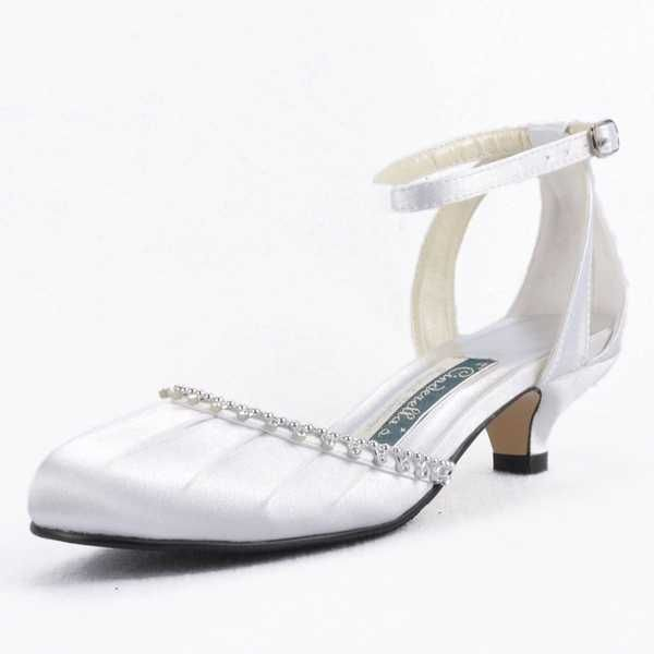Elegant White Ankle Strappy With Adjustable Buckle Rhinestones ...