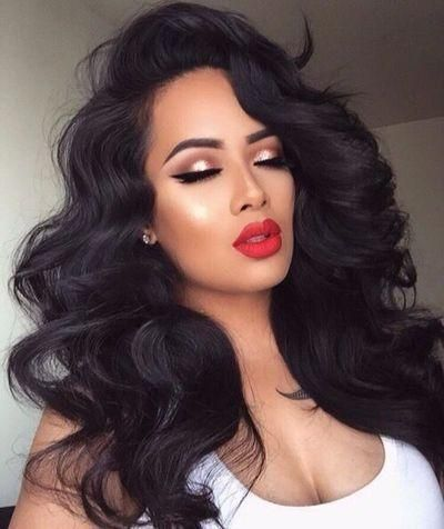 GET 10 FACE MASKS for free Brazilian Human Hair Lace Front Wig Glueless Black 1B