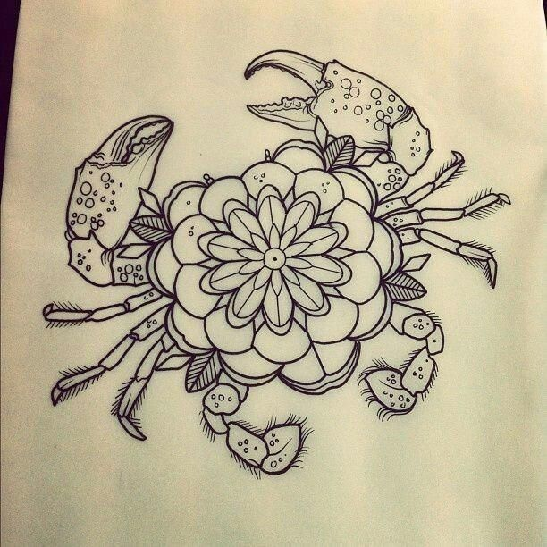 Mandala Tattoo Design Mandalatattoo Tatuaje De Cangrejo Tatuajes Tradicionales Cancer Tatuaje