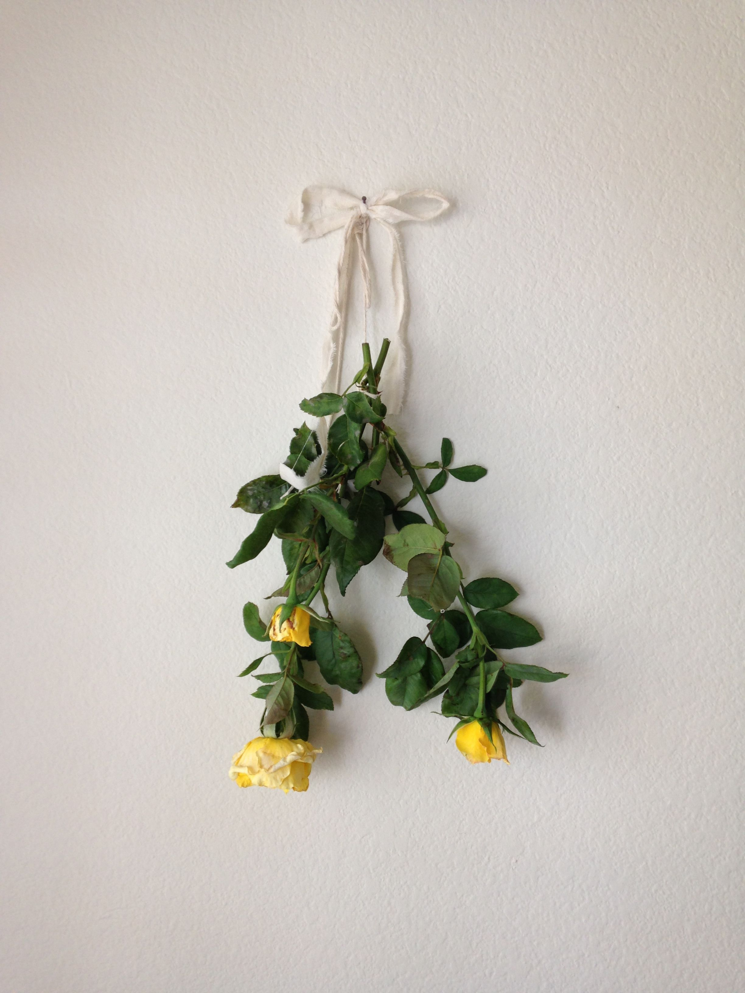 Hang Dried Flowers And Herbs As An Inexpensive Way To Decorate Blank Walls.