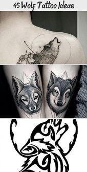 Photo of 45 Wolf Tattoo Ideas – Tattoos and Body Art  45 Wolf Tattoo Ideen #tribaltattoos…