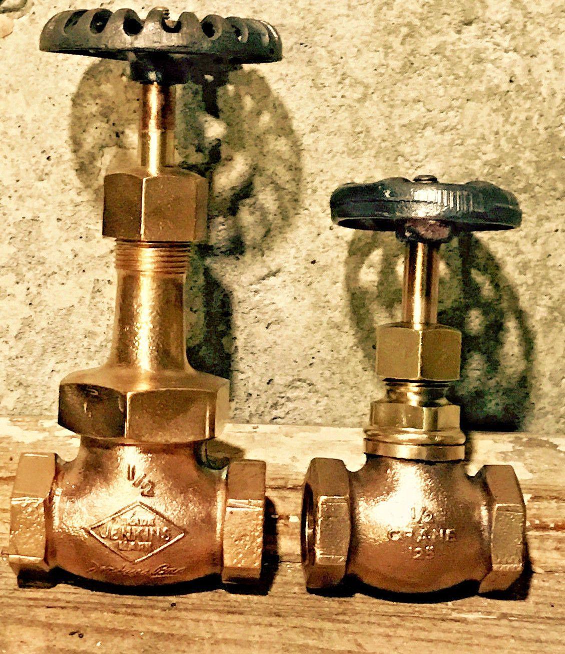 Vintage Brass Gate Valve Lot, Antique, Steampunk Lamp Parts ...
