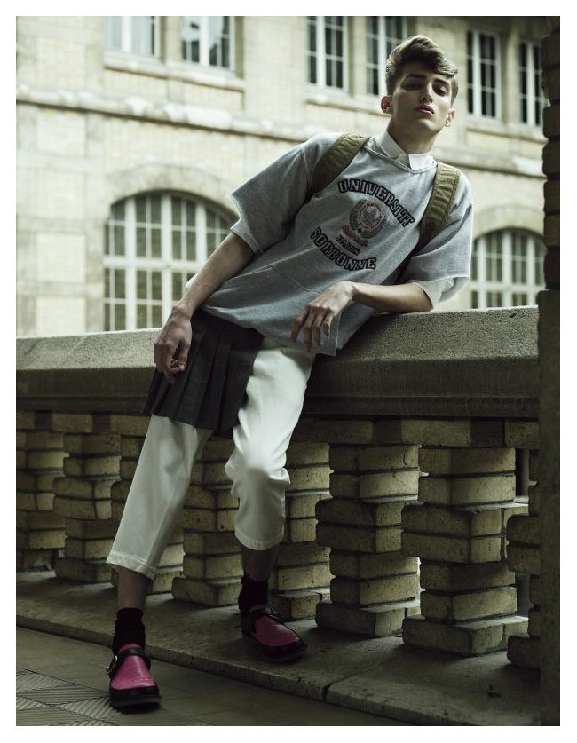 Charlie France by Willy Vanderperre in Class Act | Man AboutTown