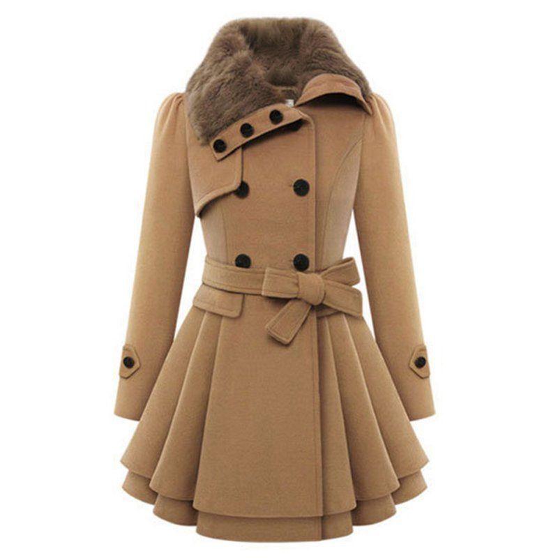 5248c2936aa7 Fashion Women Warm Slim Coat Jacket Thick Parka Overcoat Long Winter Outwear