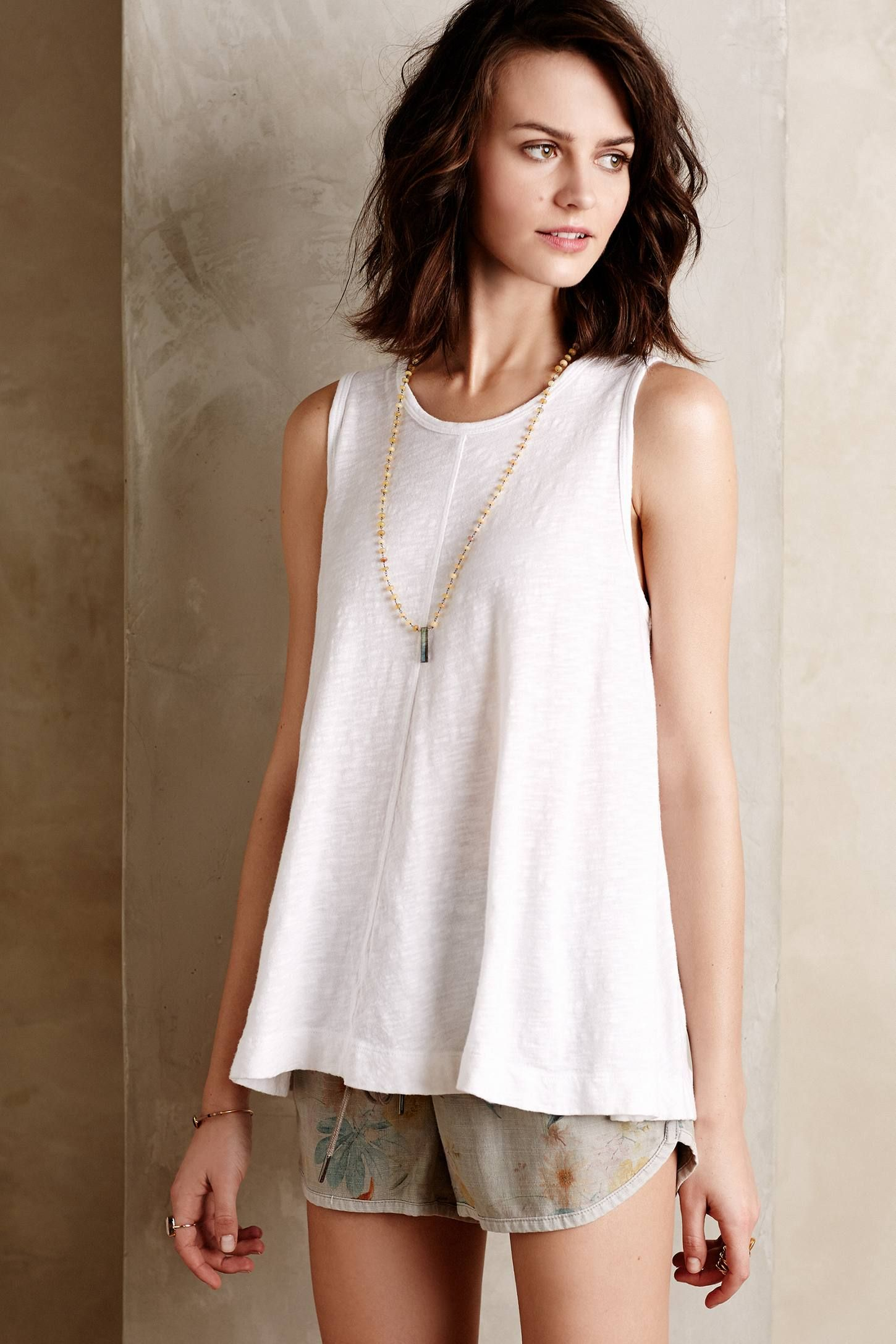 Seamed Slub Tank - anthropologie.com