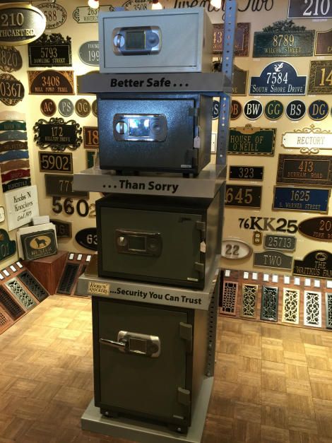 Keep your mind at ease when you store your important documents and valuables in one of our security safes! Available in different sizes, colors, and types. Contact our staff and we can help you with all your security needs at 215-794-8045.