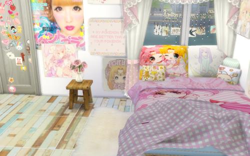 sims 4 anime Tumblr Sims 4 bedroom, Sims 4 anime, Sims 4