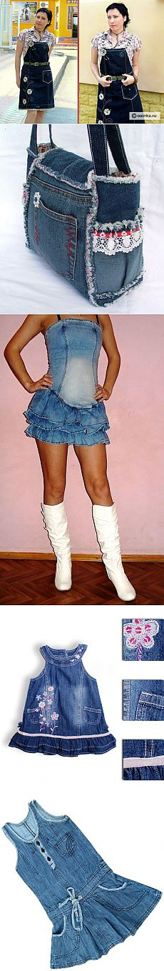 Что можно сшить из старых джинсов - Рукоделие | Ropa ...