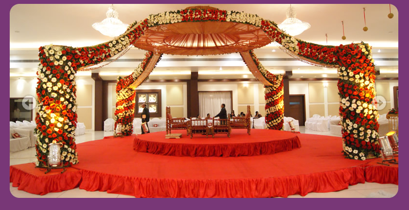 Wedding hall decorating ganesh digital pinterest most of the indian wedding mandaps inside the wedding halls are constructed using the four pillar structure decorated with flowers junglespirit Choice Image